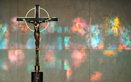 Crucifix in Moreau Seminary Chapel