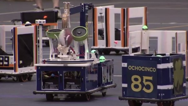Fighting iBots: Irish Win First Intercollegiate Mechantronic Football Game